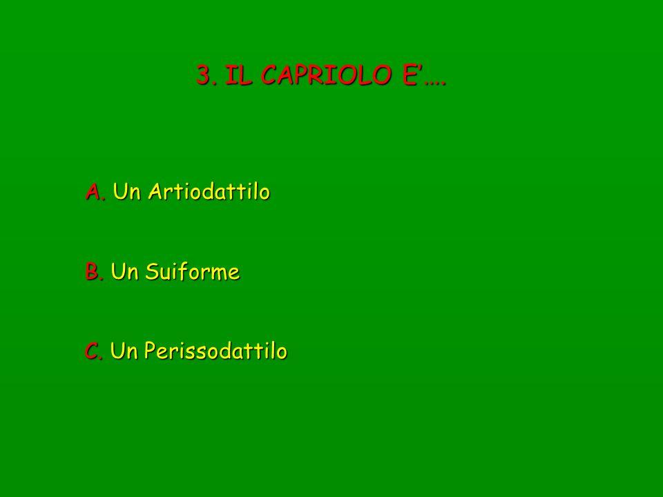 44.DAL PUNTO DI VISTA ALIMENTARE IL CAPRIOLO E…..
