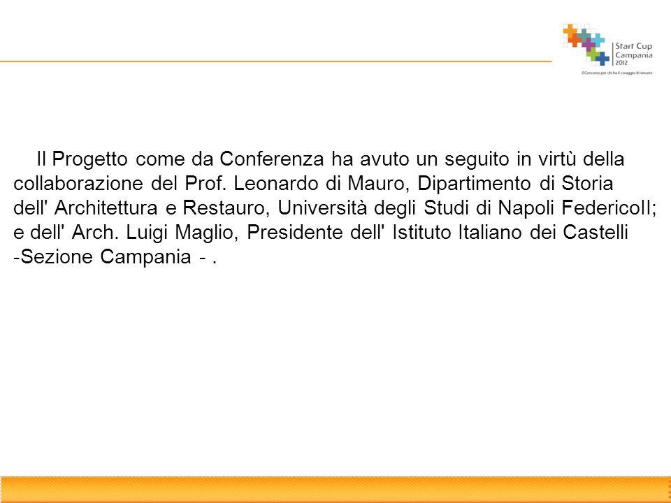 Il Progetto come da Conferenza ha avuto un seguito in virtù della collaborazione del Prof. Leonardo di Mauro, Dipartimento di Storia dell' Architettur