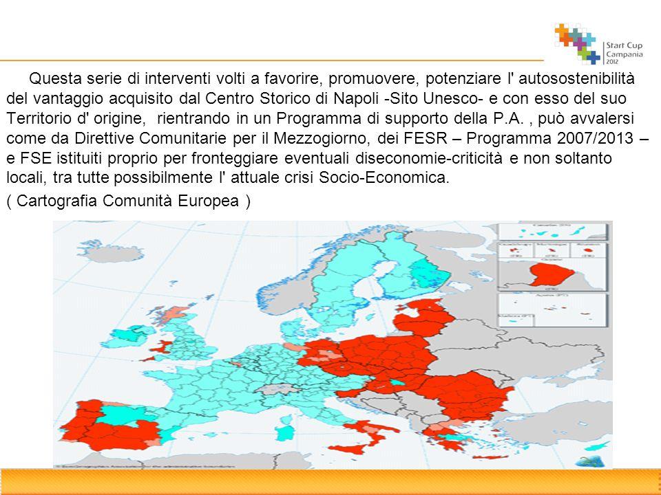 Questa serie di interventi volti a favorire, promuovere, potenziare l' autosostenibilità del vantaggio acquisito dal Centro Storico di Napoli -Sito Un