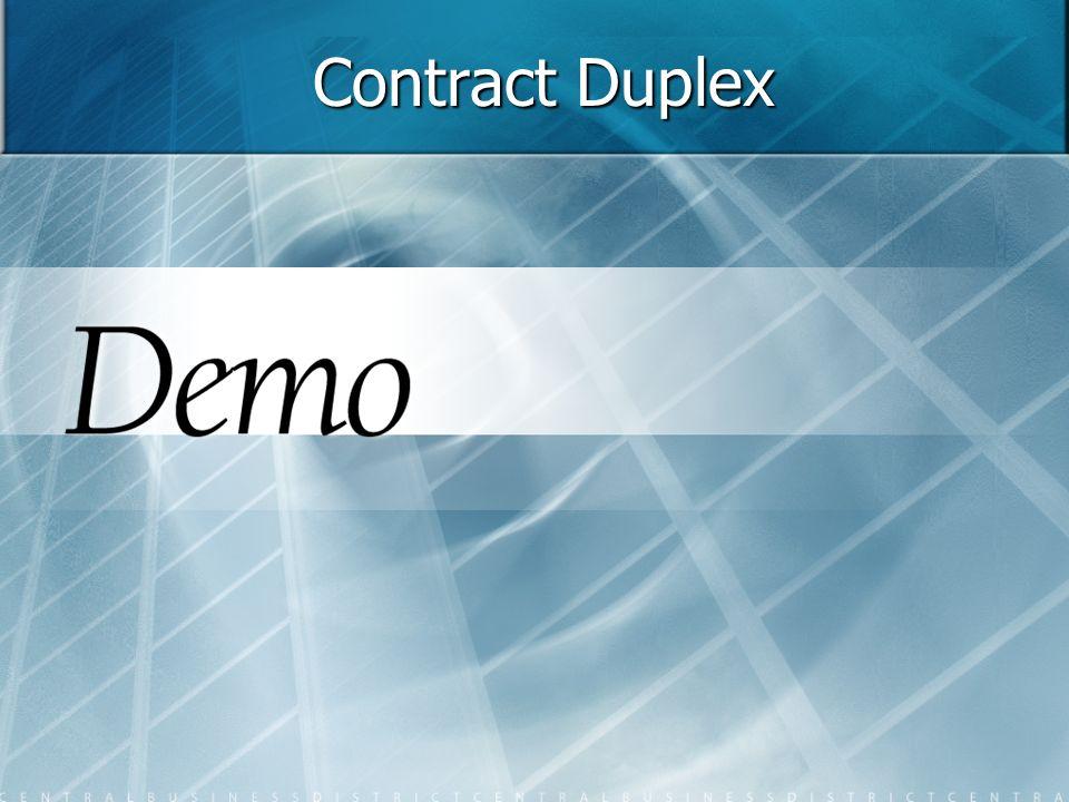 Contract Duplex