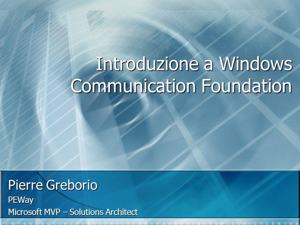 Nota Tutto il codice che vediamo in questa sessione è basato su WinFX CTP di dicembre 2005 Tutto il codice che vediamo in questa sessione è basato su WinFX CTP di dicembre 2005