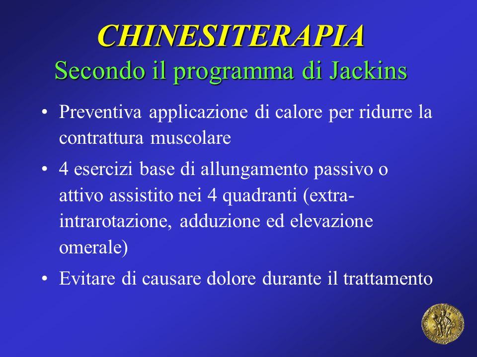 CHINESITERAPIA Secondo il programma di Jackins Preventiva applicazione di calore per ridurre la contrattura muscolare 4 esercizi base di allungamento