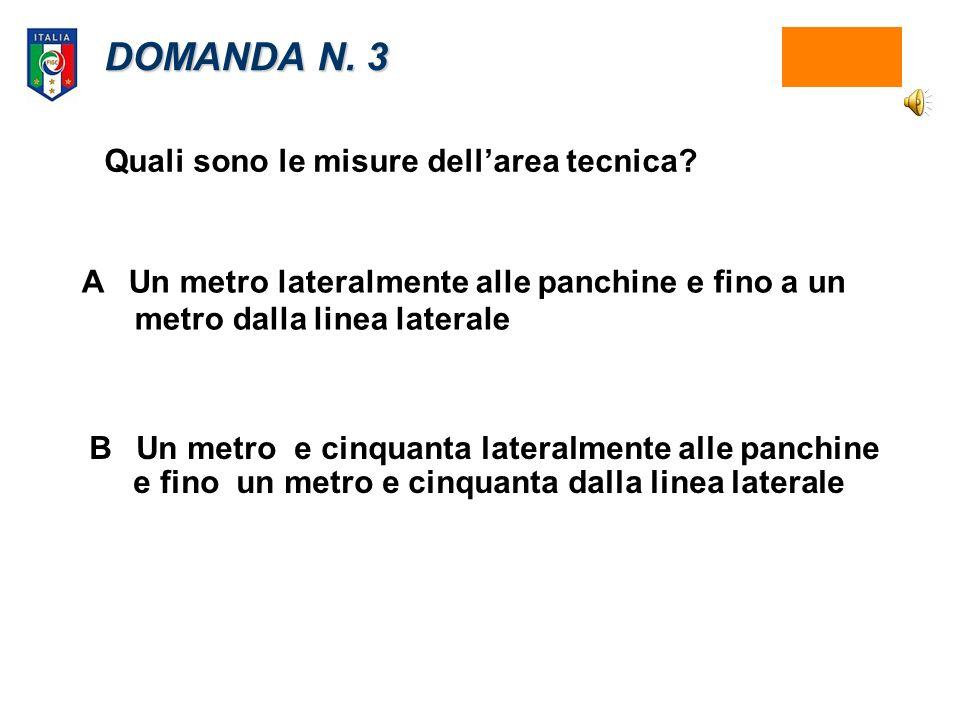 DOMANDA N.3 Quali sono le misure dellarea tecnica.