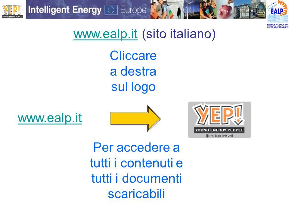 www.ealp.itwww.ealp.it (sito italiano) www.ealp.it Cliccare a destra sul logo Per accedere a tutti i contenuti e tutti i documenti scaricabili