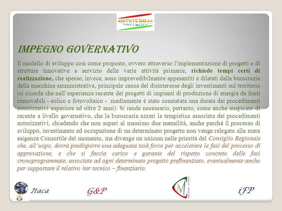 Impegno governativo Il modello di sviluppo così come proposto, ovvero attraverso limplementazione di progetti e di strutture innovative a servizio del