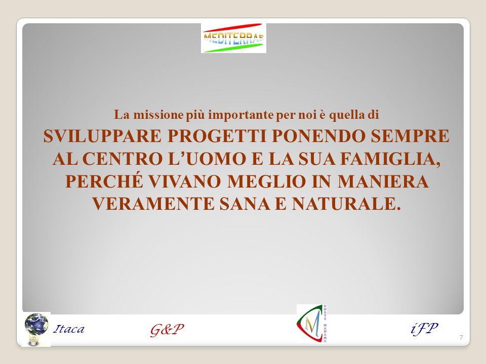 Tra i progetti in dotazione al Consorzio menzioniamo « CORTE MADAMA » iFP G&P Itaca