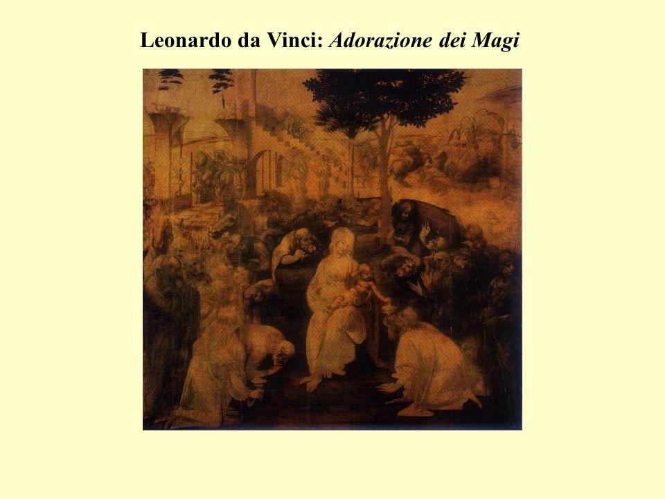 Leonardo rivoluziona limpostazione tradizionale dell Adorazione dei Magi.