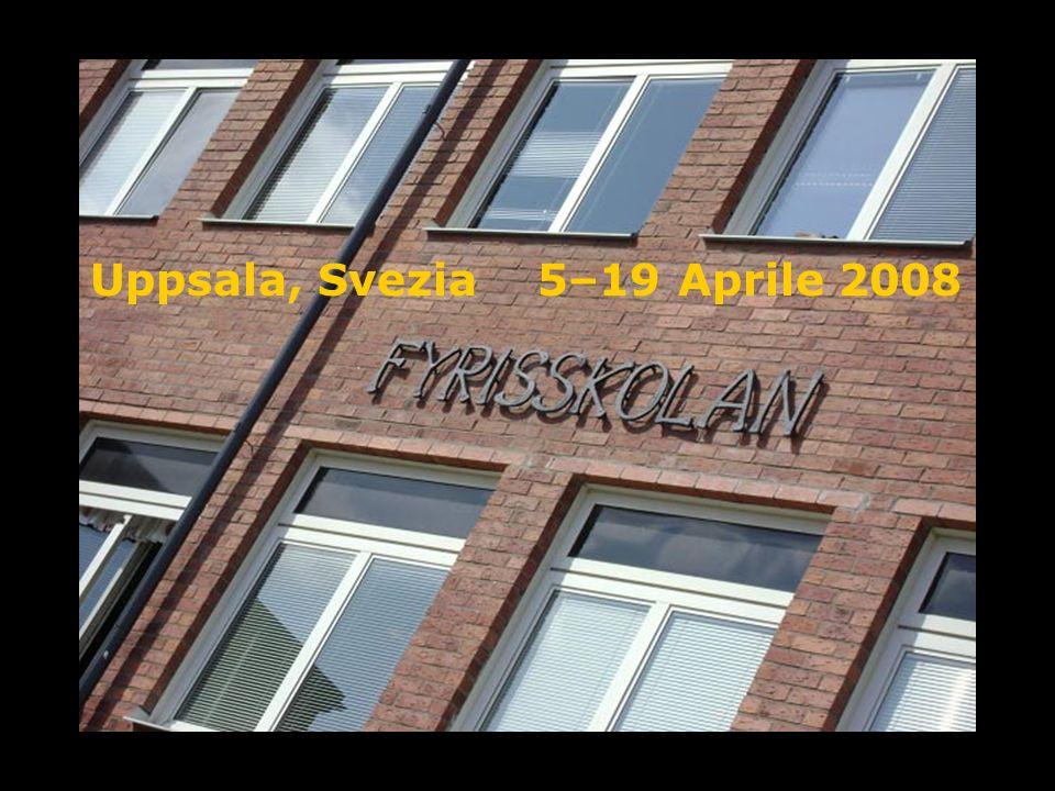 Uppsala, Svezia 5–19 Aprile 2008