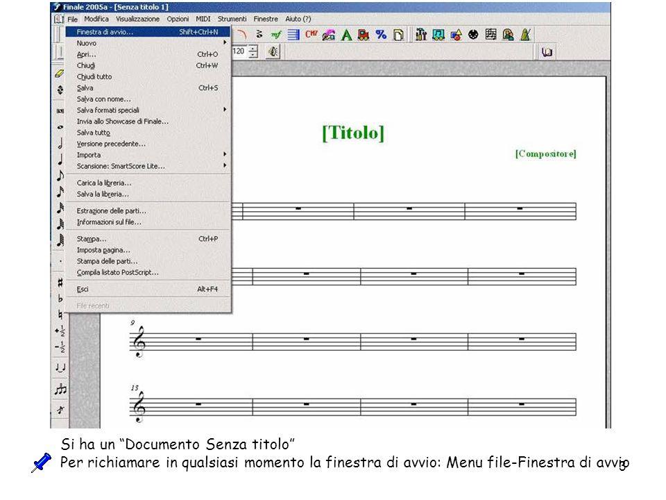 24 Strumento Testo Questo Strumento permette di inserire qualsiasi testo tranne quello per indicare la dinamica.