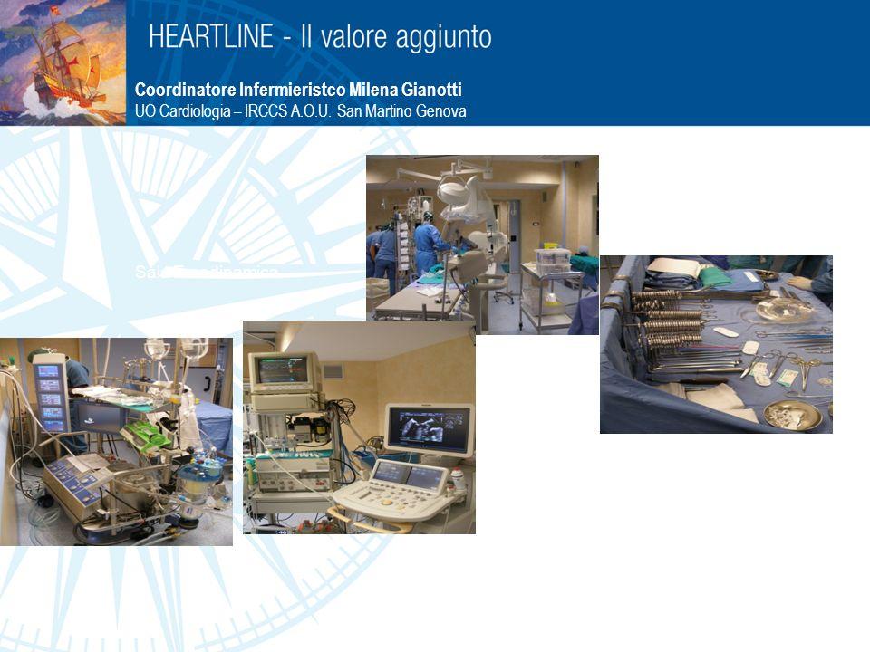 Sala Emodinamica Ecocardiografo Coordinatore Infermieristco Milena Gianotti UO Cardiologia – IRCCS A.O.U. San Martino Genova