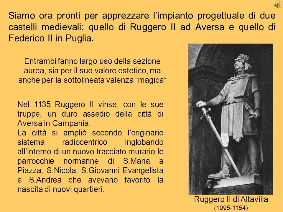 Siamo ora pronti per apprezzare limpianto progettuale di due castelli medievali: quello di Ruggero II ad Aversa e quello di Federico II in Puglia. Nel