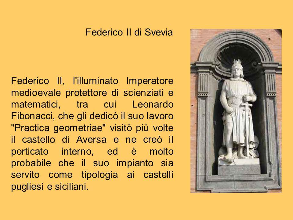 Federico II, l'illuminato Imperatore medioevale protettore di scienziati e matematici, tra cui Leonardo Fibonacci, che gli dedicò il suo lavoro
