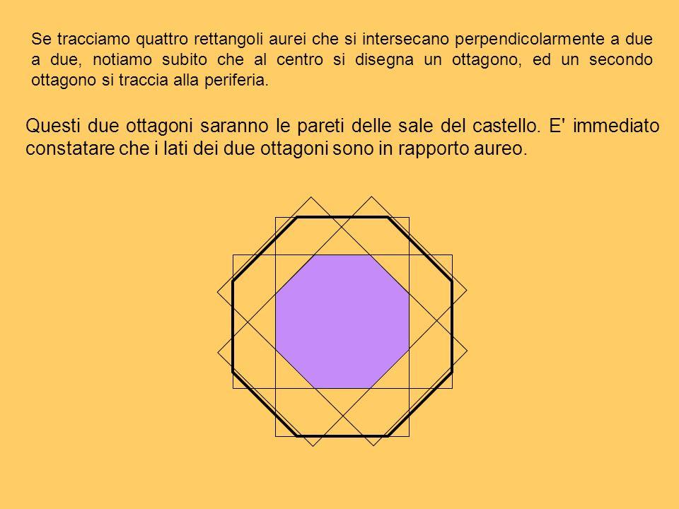 Se tracciamo quattro rettangoli aurei che si intersecano perpendicolarmente a due a due, notiamo subito che al centro si disegna un ottagono, ed un se
