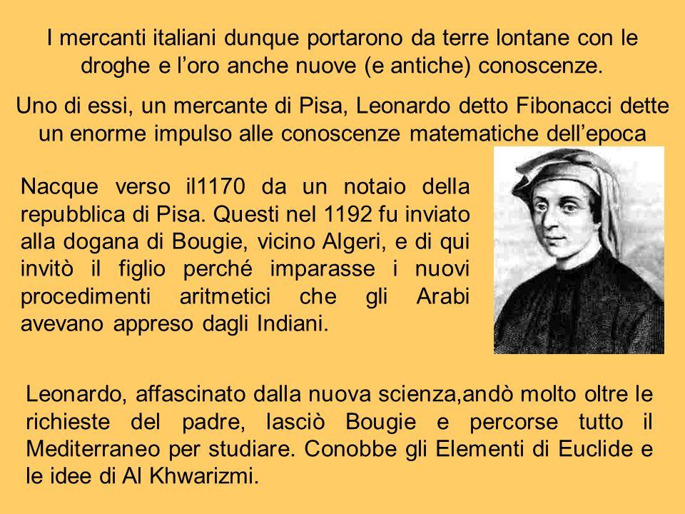 I mercanti italiani dunque portarono da terre lontane con le droghe e loro anche nuove (e antiche) conoscenze. Uno di essi, un mercante di Pisa, Leona