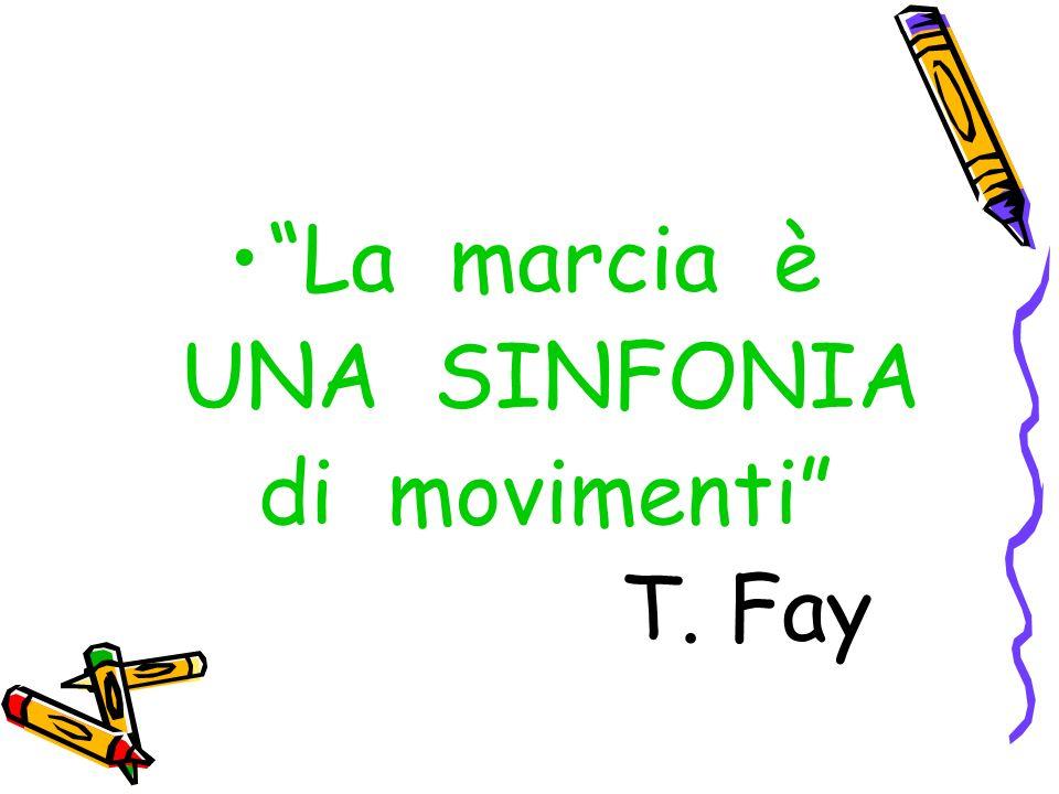 La marcia è UNA SINFONIA di movimenti T. Fay