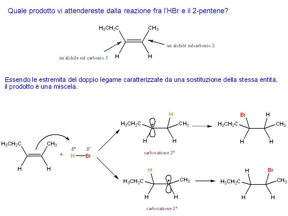 Dato che nelle reazioni di addizione elettrofila si invocano come intermedi i carbocationi, una versione alternativa della regola di Markovnikov è che, nelladdizione di HX allalchene, tende a formarsi di preferenza come intermedio il carbocatione maggiormente sostituito.