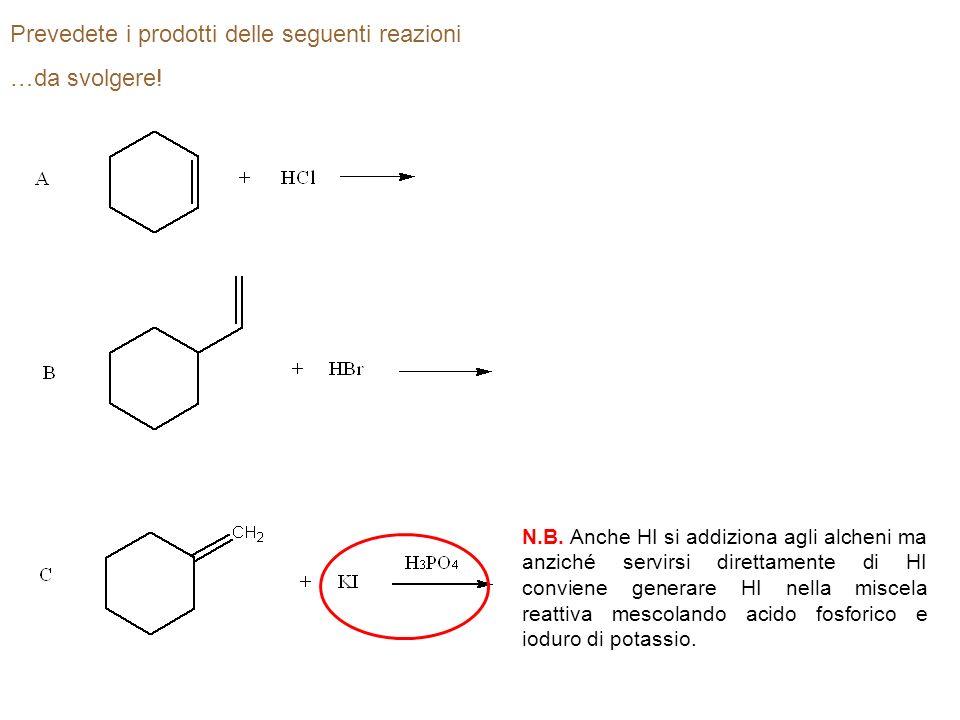 Da quali alcheni partireste per preparare i seguenti alogenuri alchilici.