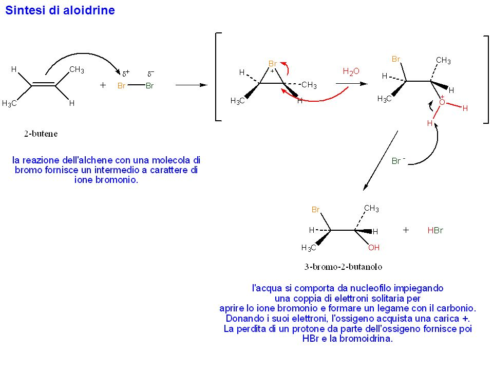 Addizione di acqua agli alcheni (idratazione)