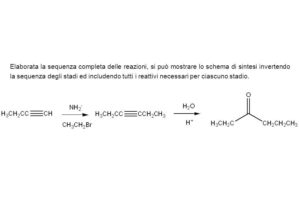 Esercizio.Come è possibile sintetizzare l(E)-2-pentene a partire dall1-etino.