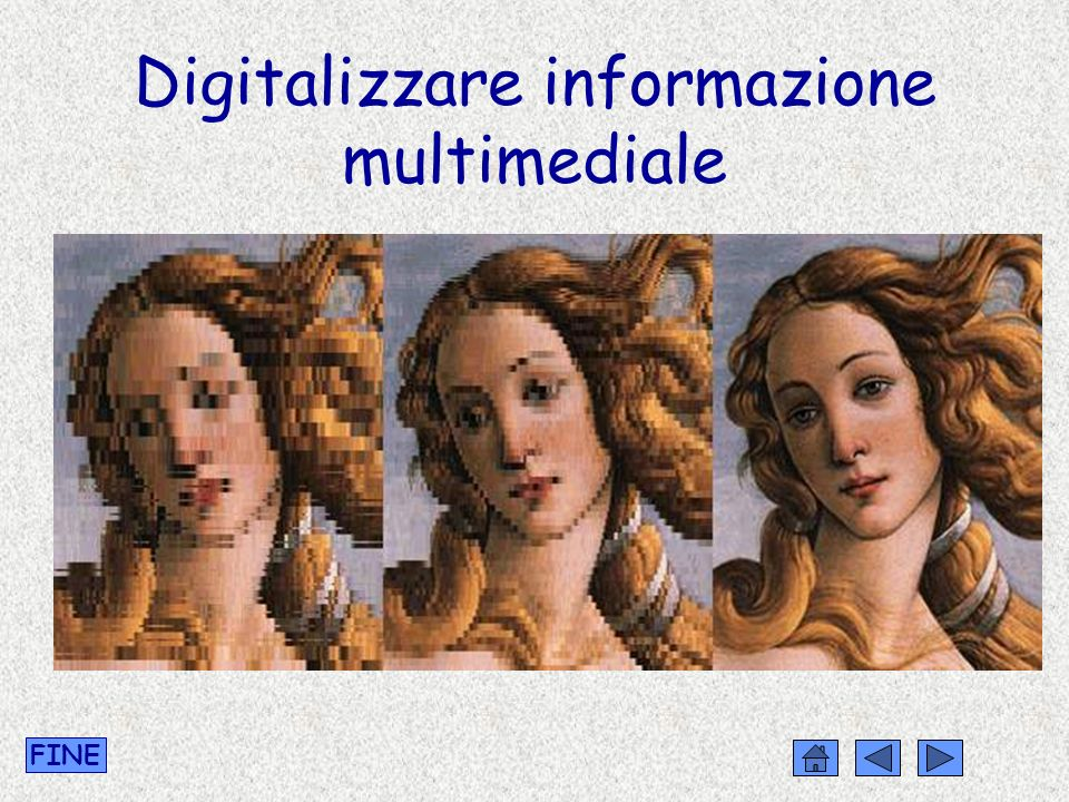 Digitalizzare informazione multimediale FINE