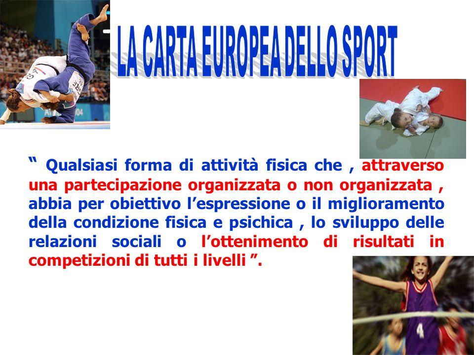 Lo sport non è la cronaca dello sport e non e certamente lavvenimento sportivo descritto e raccontato da giornali e televisioni. (C.O.N.I. -2006) Di s