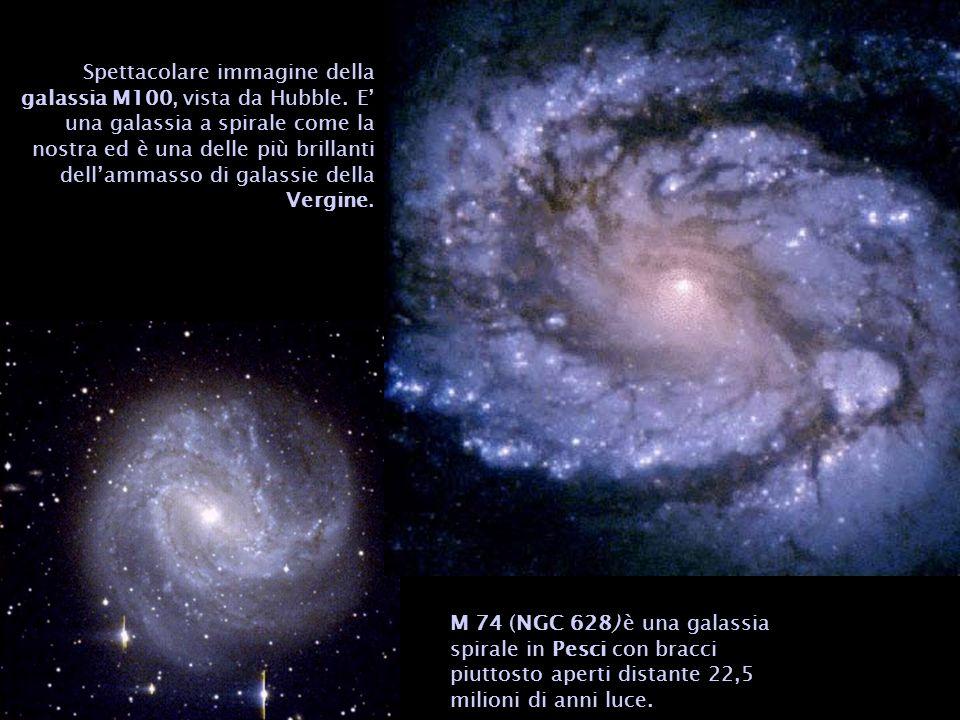 Spettacolare immagine della galassia M100, vista da Hubble. E una galassia a spirale come la nostra ed è una delle più brillanti dellammasso di galass