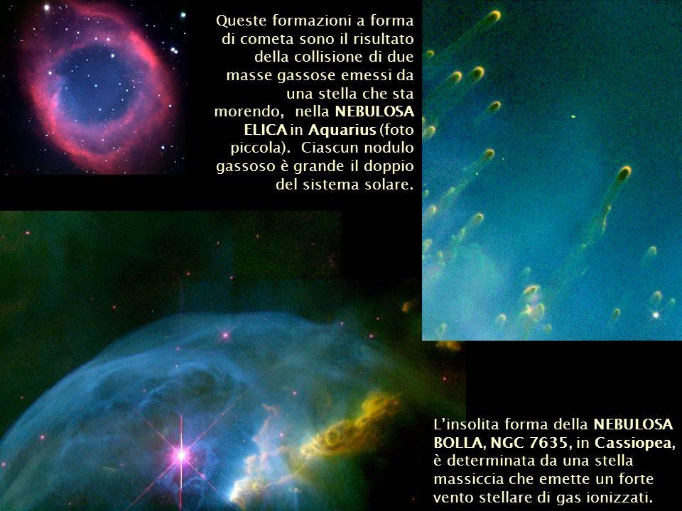Linsolita forma della NEBULOSA BOLLA, NGC 7635, in Cassiopea, è determinata da una stella massiccia che emette un forte vento stellare di gas ionizzat