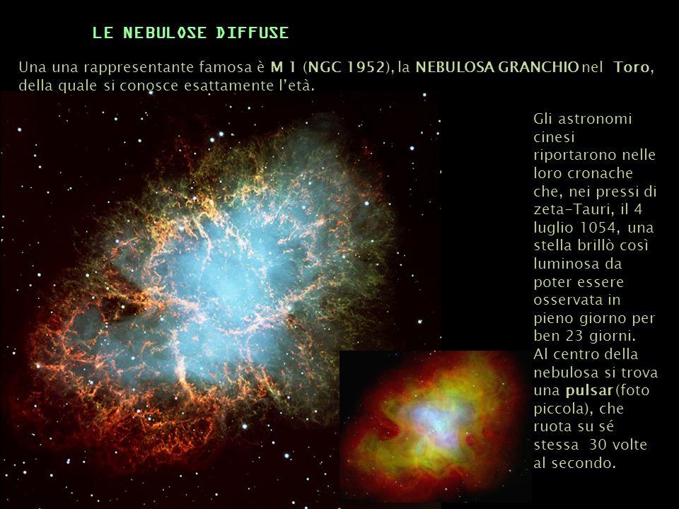 Una una rappresentante famosa è M 1 (NGC 1952), la NEBULOSA GRANCHIO nel Toro, della quale si conosce esattamente letà. Gli astronomi cinesi riportaro