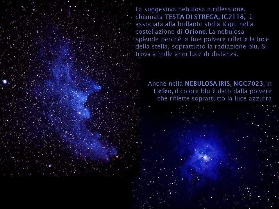 NGC 7023 in Cefeo è un buon esempio di nebulosa bozzolo polverosa: in essa una o più stelle appena formatesi illuminano un involucro di polvere e gas.