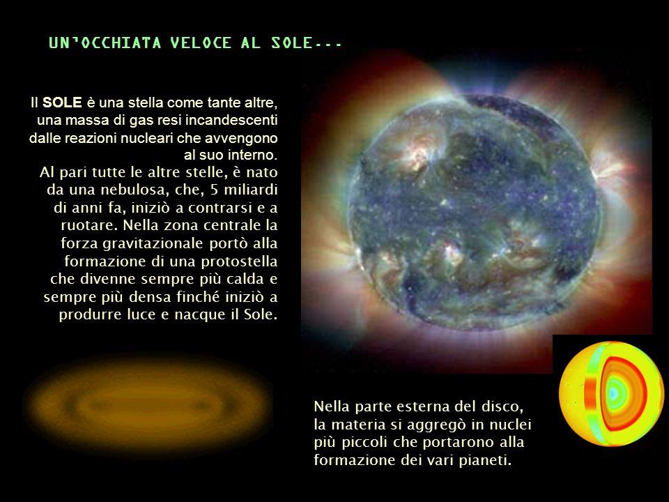 Il SOLE è una stella come tante altre, una massa di gas resi incandescenti dalle reazioni nucleari che avvengono al suo interno. Al pari tutte le altr