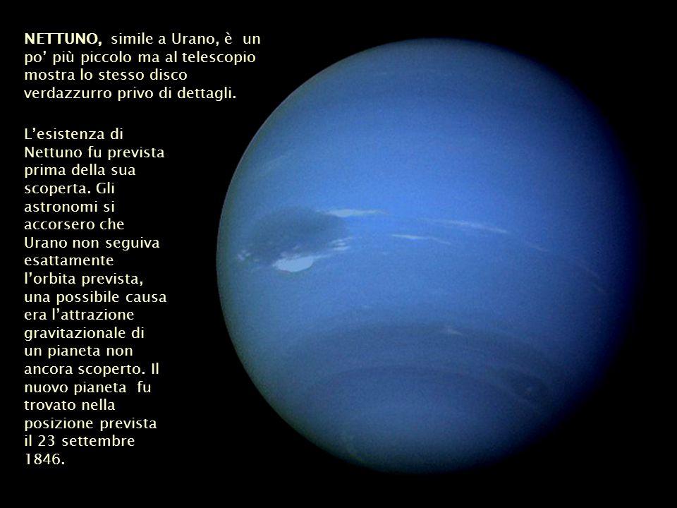 Lesistenza di Nettuno fu prevista prima della sua scoperta. Gli astronomi si accorsero che Urano non seguiva esattamente lorbita prevista, una possibi