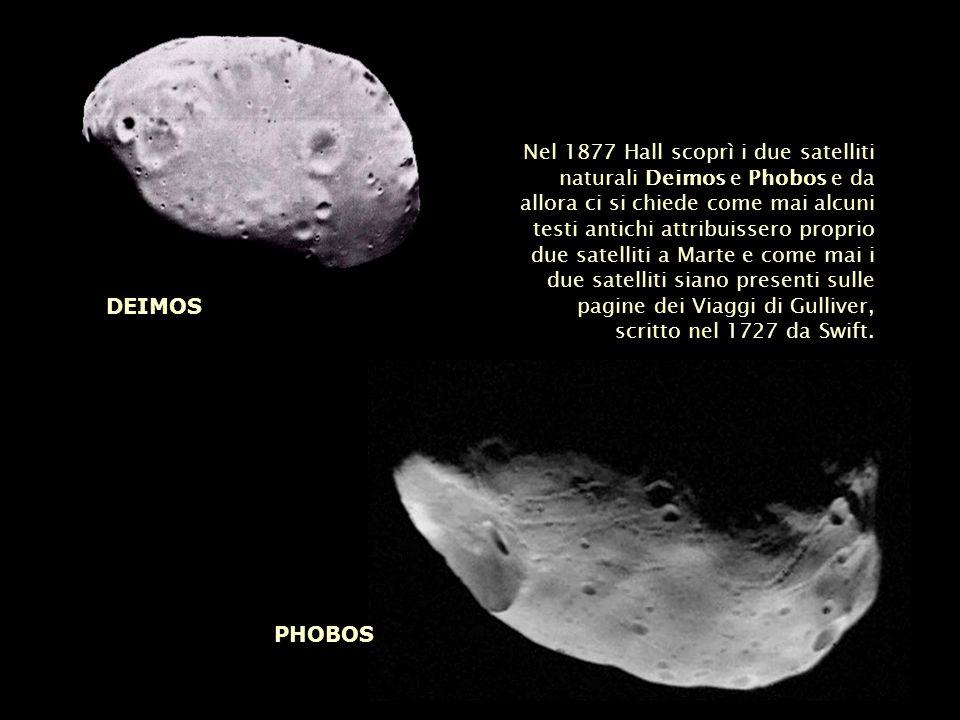 Nel 1877 Hall scoprì i due satelliti naturali Deimos e Phobos e da allora ci si chiede come mai alcuni testi antichi attribuissero proprio due satelli