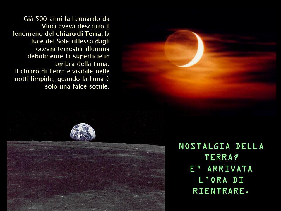 Già 500 anni fa Leonardo da Vinci aveva descritto il fenomeno del chiaro di Terra: la luce del Sole riflessa dagli oceani terrestri illumina debolment