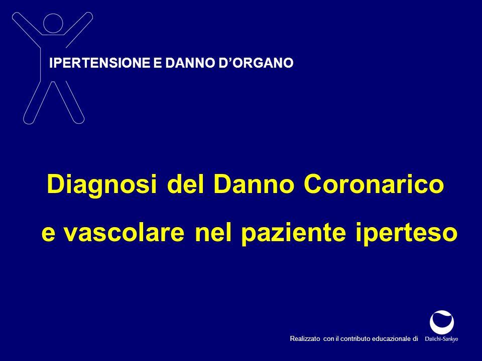 IPERTENSIONE E DANNO DORGANO Realizzato con il contributo educazionale di Diagnosi del Danno Coronarico e vascolare nel paziente iperteso