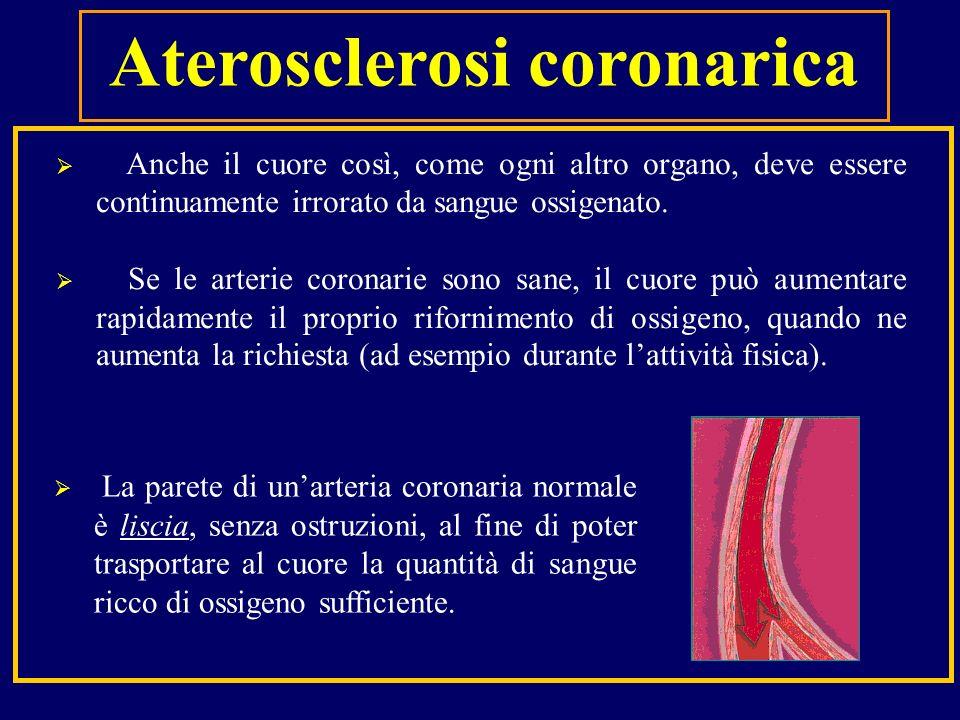 Anche il cuore così, come ogni altro organo, deve essere continuamente irrorato da sangue ossigenato. Se le arterie coronarie sono sane, il cuore può