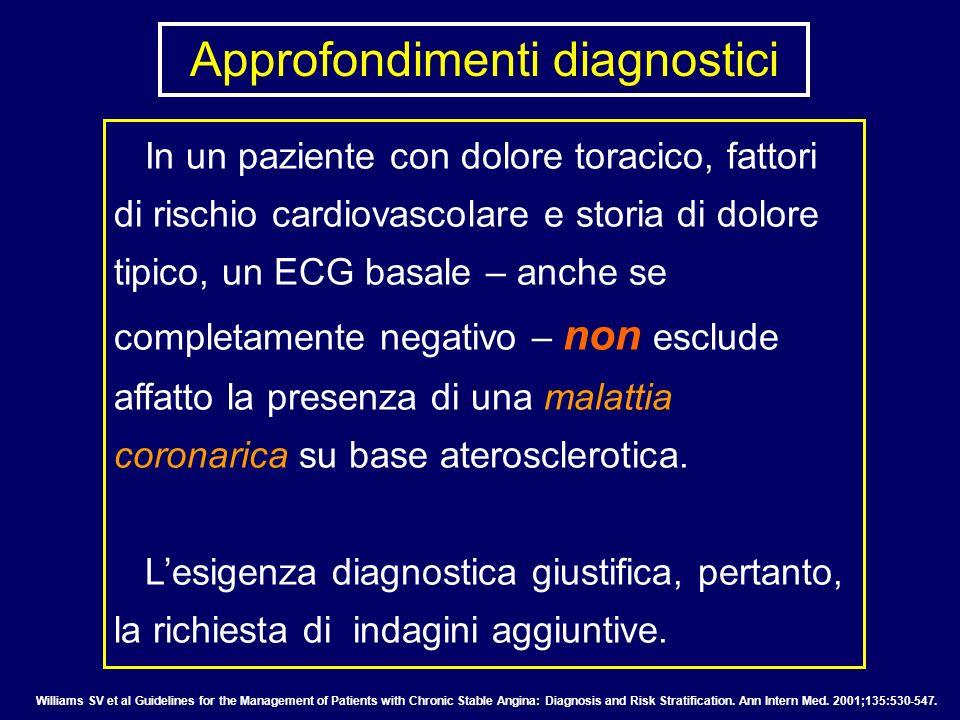 In un paziente con dolore toracico, fattori di rischio cardiovascolare e storia di dolore tipico, un ECG basale – anche se completamente negativo – no