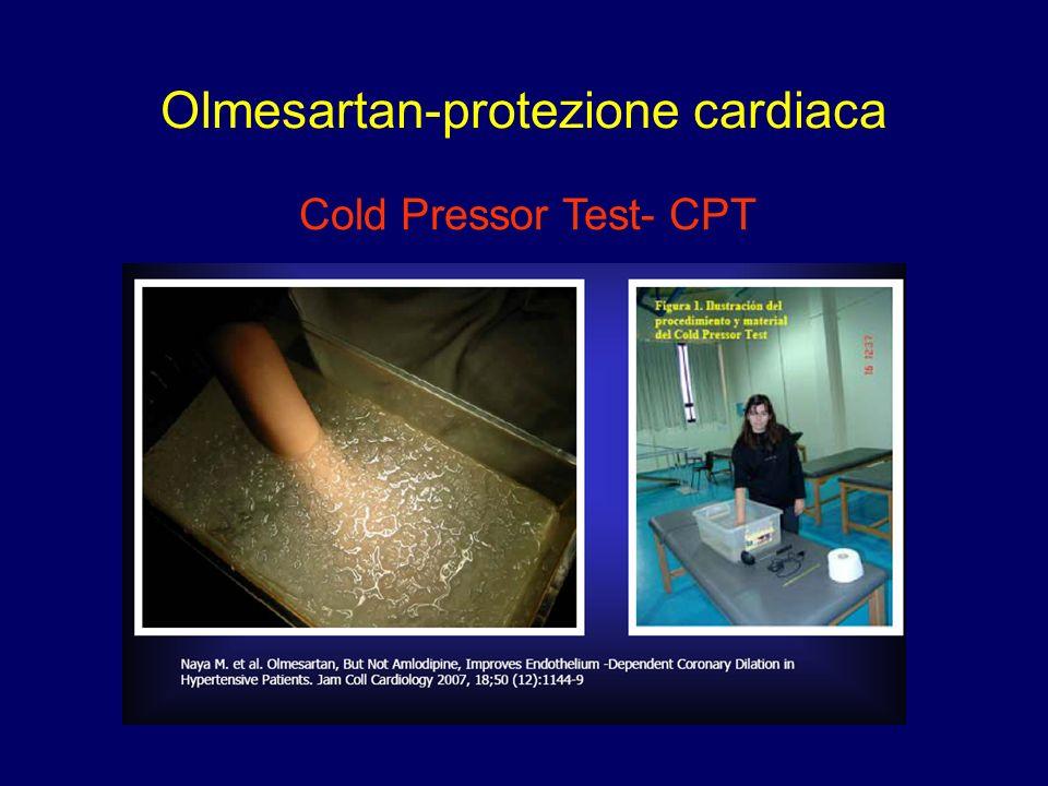 Olmesartan-protezione cardiaca Cold Pressor Test- CPT