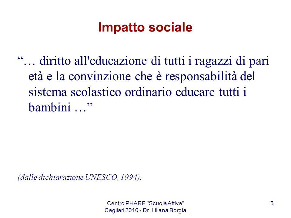 Centro PHARE Scuola Attiva Cagliari 2010 - Dr.Liliana Borgia 56 OM n.
