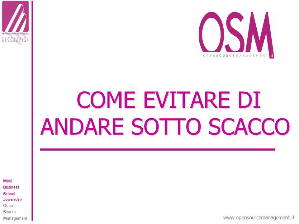 COME EVITARE DI ANDARE SOTTO SCACCO COME EVITARE DI ANDARE SOTTO SCACCO