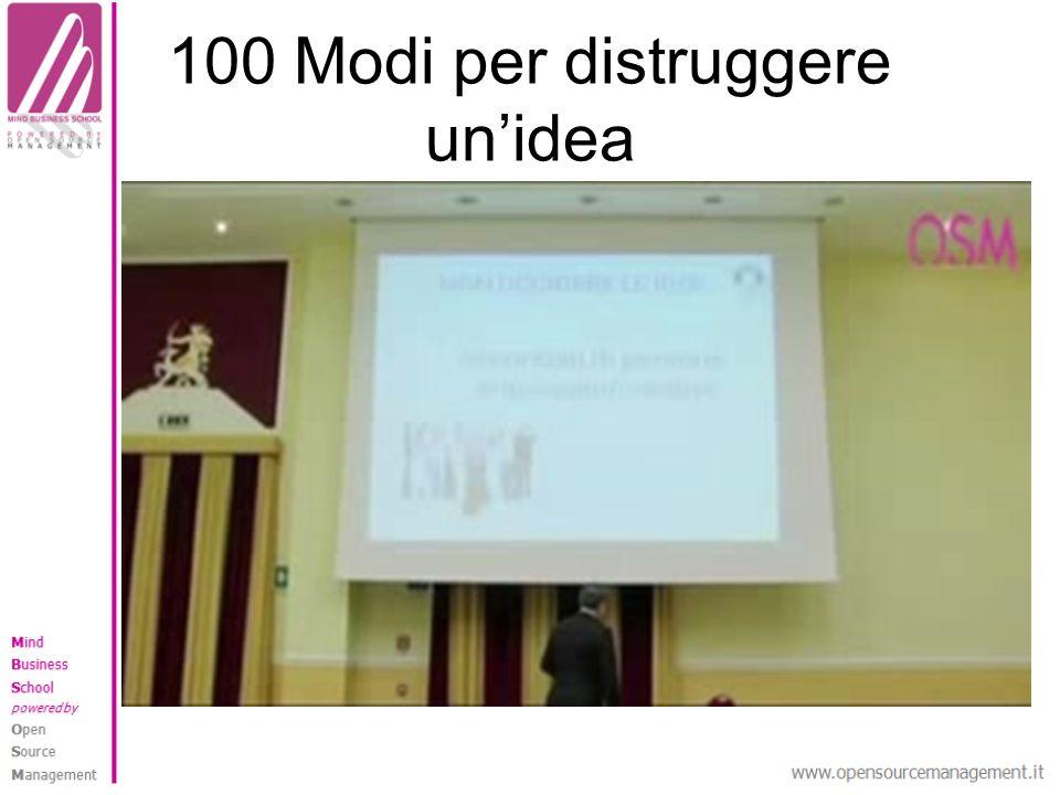 100 Modi per distruggere unidea