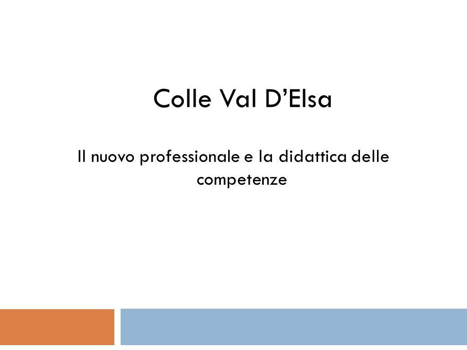 Colle Val DElsa Il nuovo professionale e la didattica delle competenze