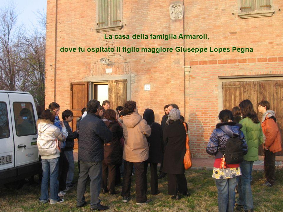 La casa della famiglia Armaroli, dove fu ospitato il figlio maggiore Giuseppe Lopes Pegna