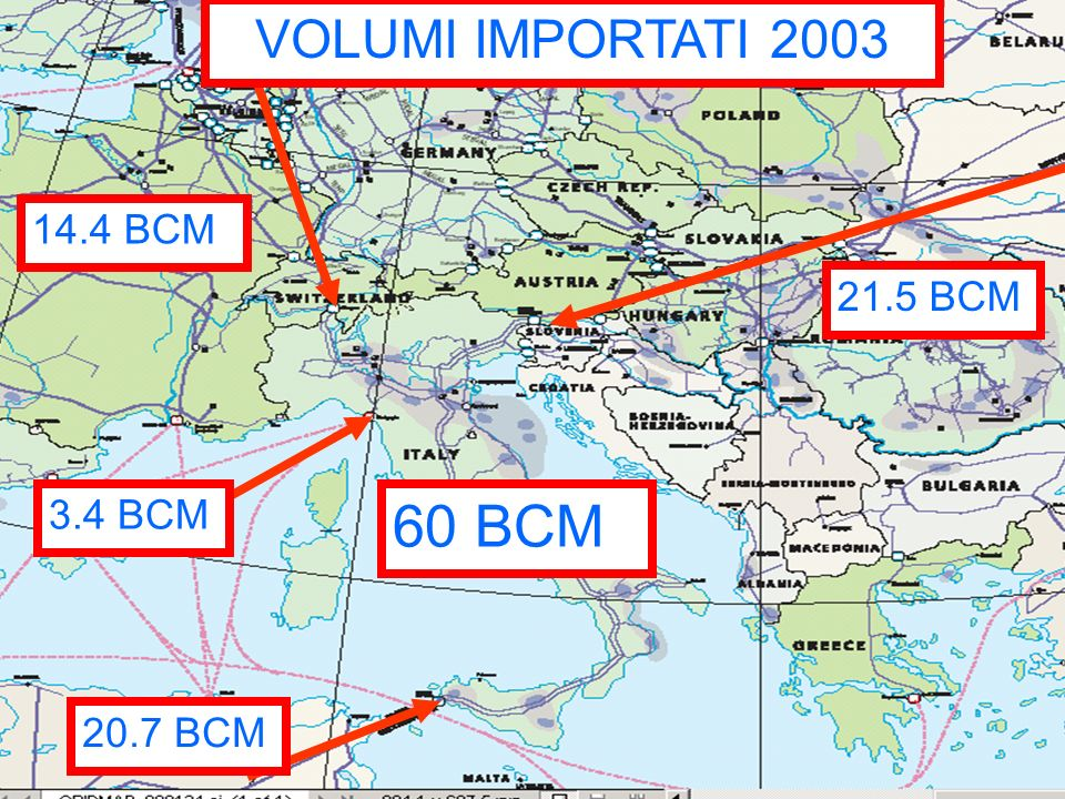 Punto di Scambio Virtuale The Italian Hub Fino ad oggi 34 shippers si sono iscritti al servizio P.S.V., fra cui vari major, traders e fornitori di municipalizzate.