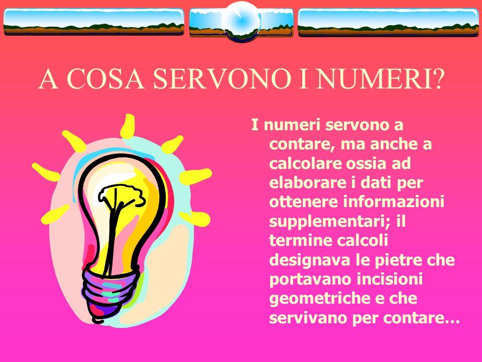 COSA SONO I NUMERI? I Numeri non sono un invenzione dellumanità, sono una scoperta, esistevano già in modo del tutto indipendente dalla razza umana. I