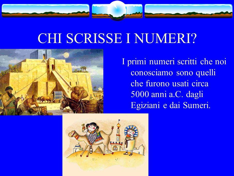 A COSA SERVIVANO NELLANTICHITA? …I numeri servivano alla misurazione del tempo, ai primi commerci ed anche a misurare, per cui furono usati per risolv