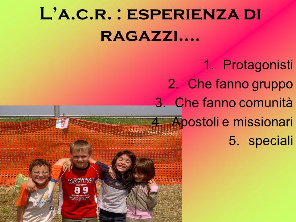 La.c.r.: esperienza di ragazzi….