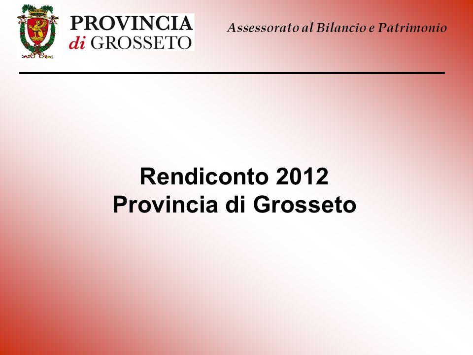 Rendiconto 2012 Provincia di Grosseto Assessorato al Bilancio e Patrimonio