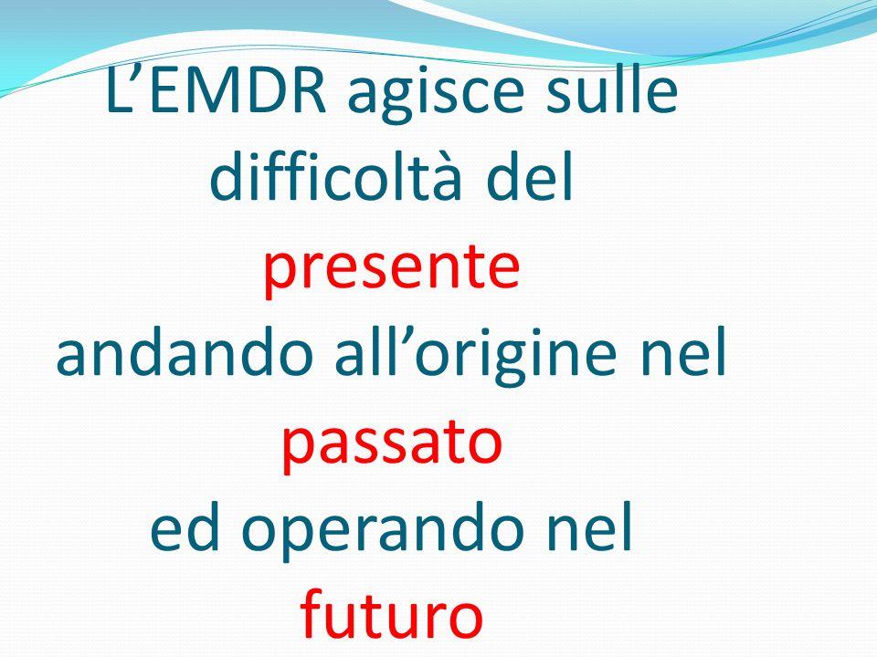 LEMDR agisce sulle difficoltà del presente andando allorigine nel passato ed operando nel futuro