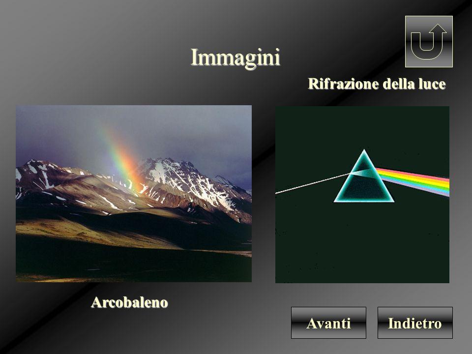 Immagini IndietroAvantiArcobaleno Rifrazione della luce