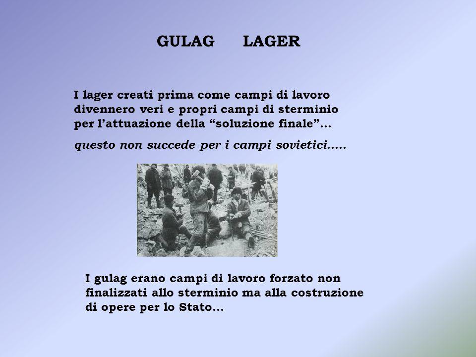 Nel NAZISMO Leliminazione avveniva per via artificiale nelle camere a gas …..